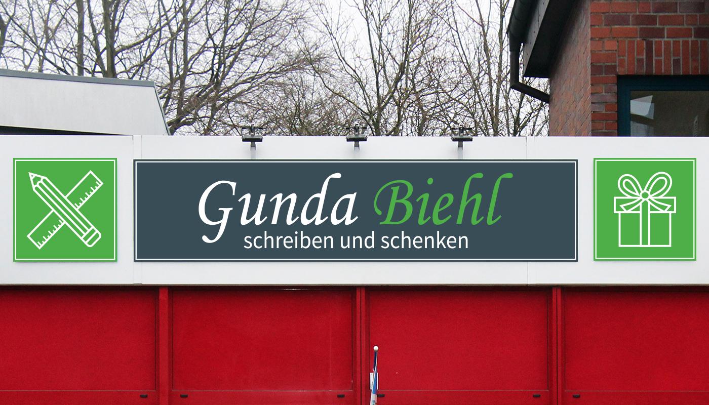 Gunda Biehl Henstedt-Ulzburg Schreibwaren Schild & Aussenbeschilderung